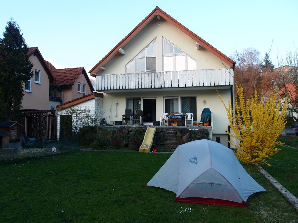 Mein Schlafplatz in Balzfeld