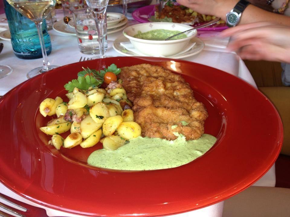 Jep, es gab wieder Essen. :) Frankfurter Gree Soß bei Käfers, mjam!