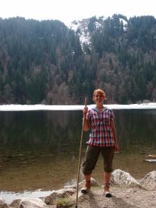 Der Feldsee, mein neuer Wanderstab und i
