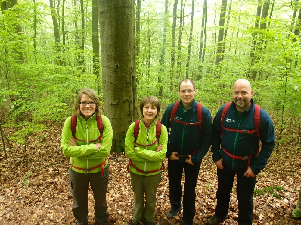 Meine vier Gefährten: Janina, Christina, Martin und Claus.