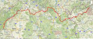 Grober Wegverlauf Hasloch (Spessart) - Tschirnitz (Tschechien)