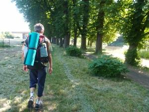 Auf Kurs: Ein Weg am Fluss