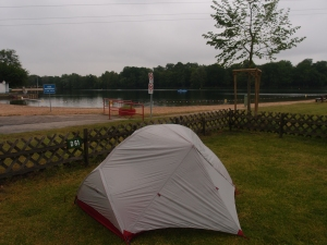 Warum ich bei dem schönen Wetter wohl die Einzige mit Zelt bin...