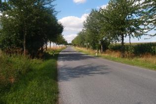 Auch das ist der Radweg...eine Landstraße...die führt mich von Kaff zu Kaff: zäh, heiß, staubig, nicht grade der schönste Abschluss einer Wanderung, aber...